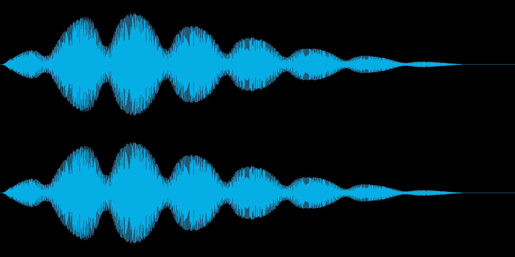 雲がふわふわと浮かぶような効果音の再生済みの波形