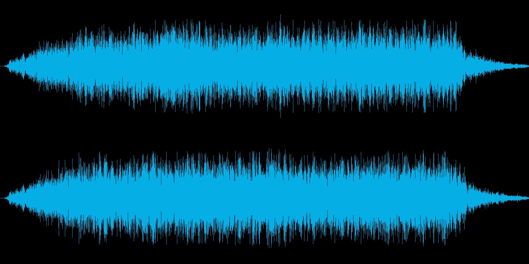 恐怖の不協和音の再生済みの波形