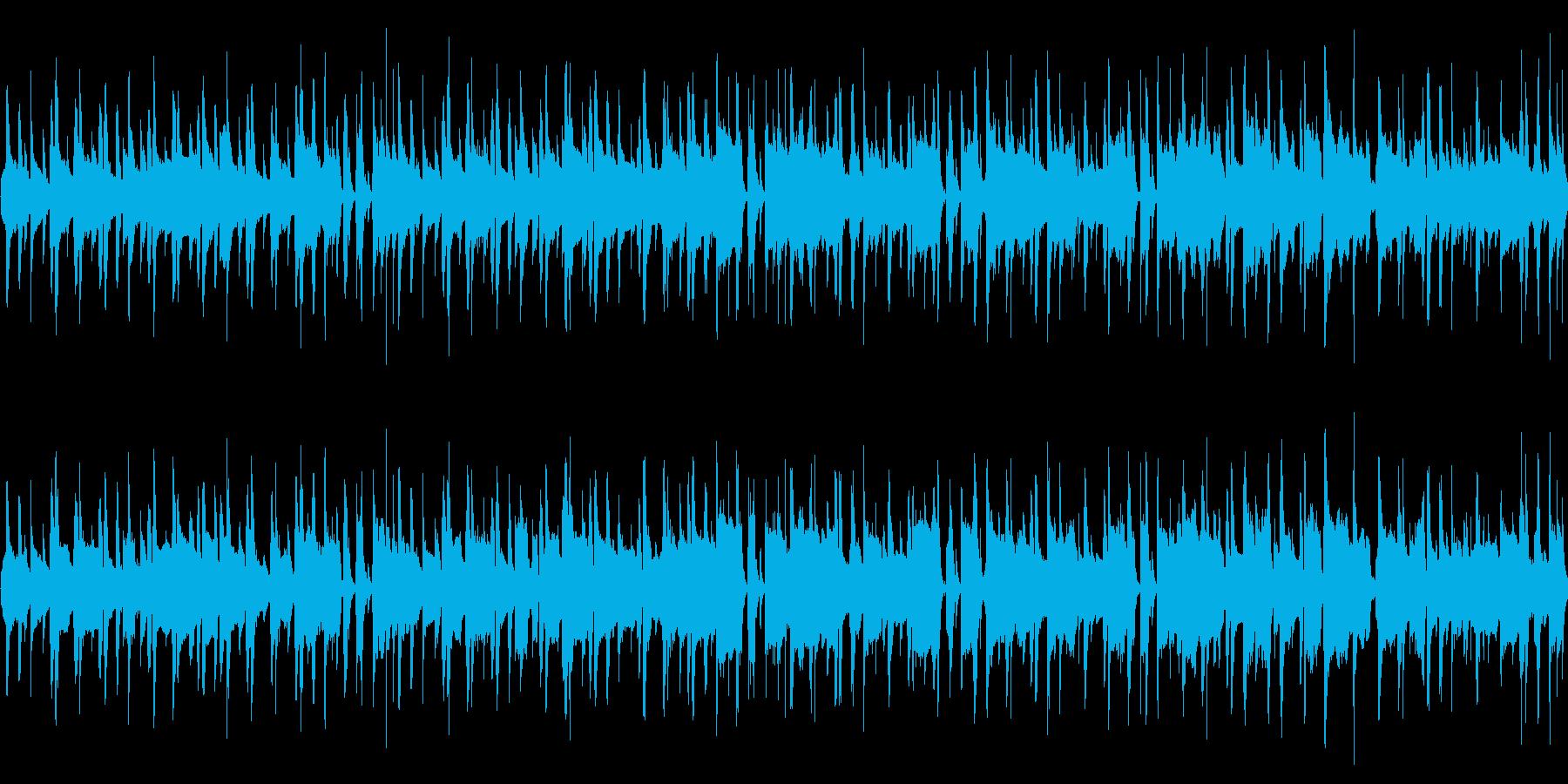 のんびり昼寝する素朴な曲の再生済みの波形