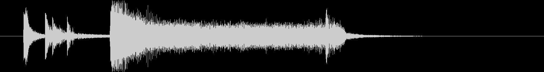 ビッグバンド生演奏的キメ音Bb69#11の未再生の波形