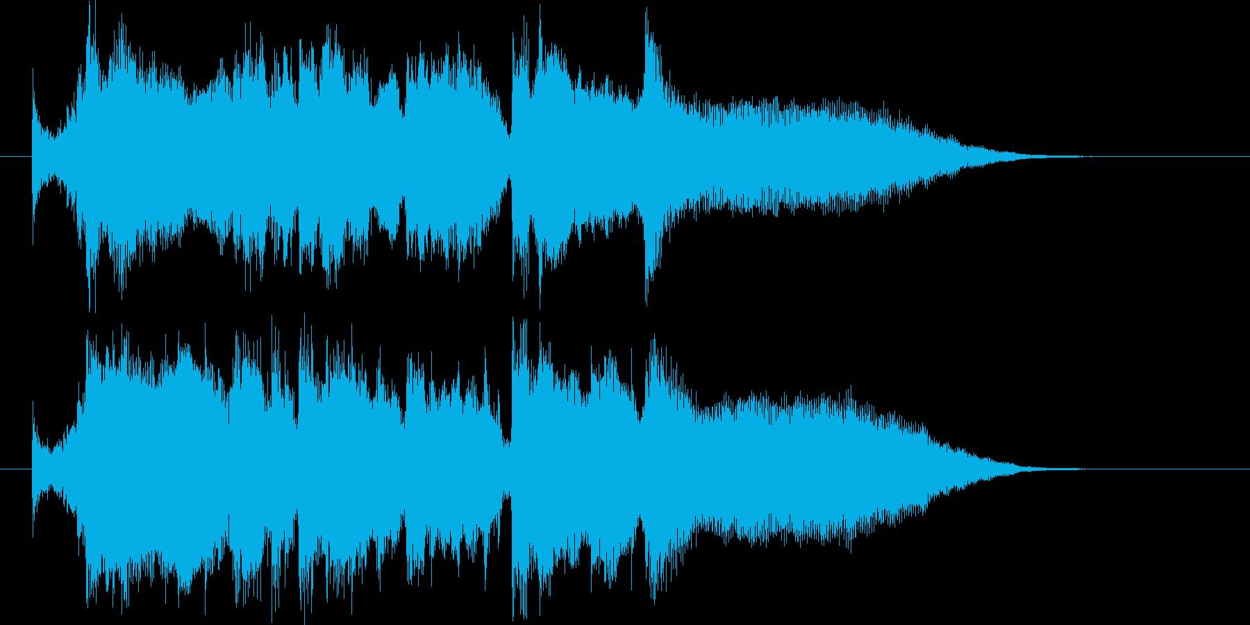 奥行きのあるオーケストラの再生済みの波形