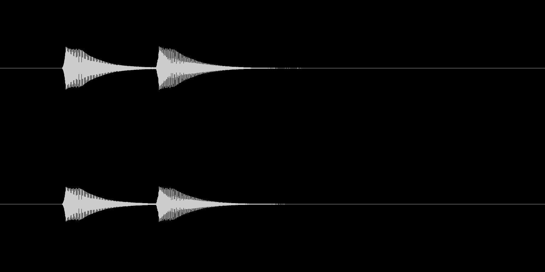 ホワンホワン(アナログシンセ)の未再生の波形
