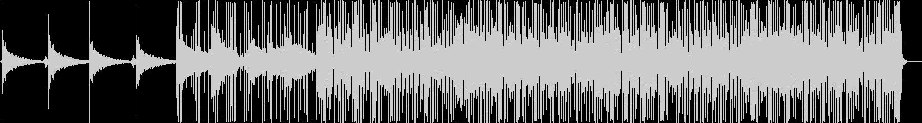 アコーステックギターのRock調なBGMの未再生の波形