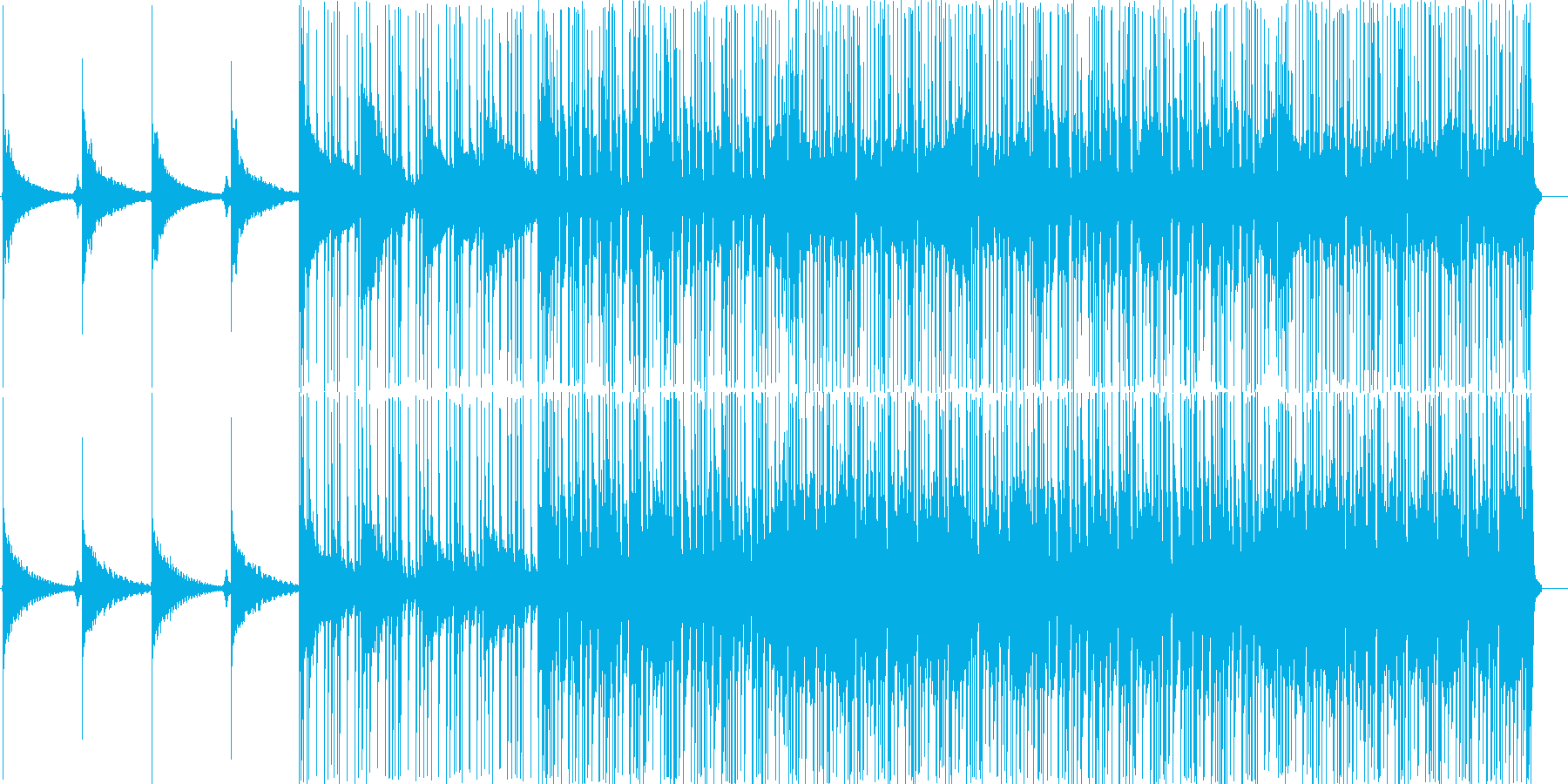 アコーステックギターのRock調なBGMの再生済みの波形