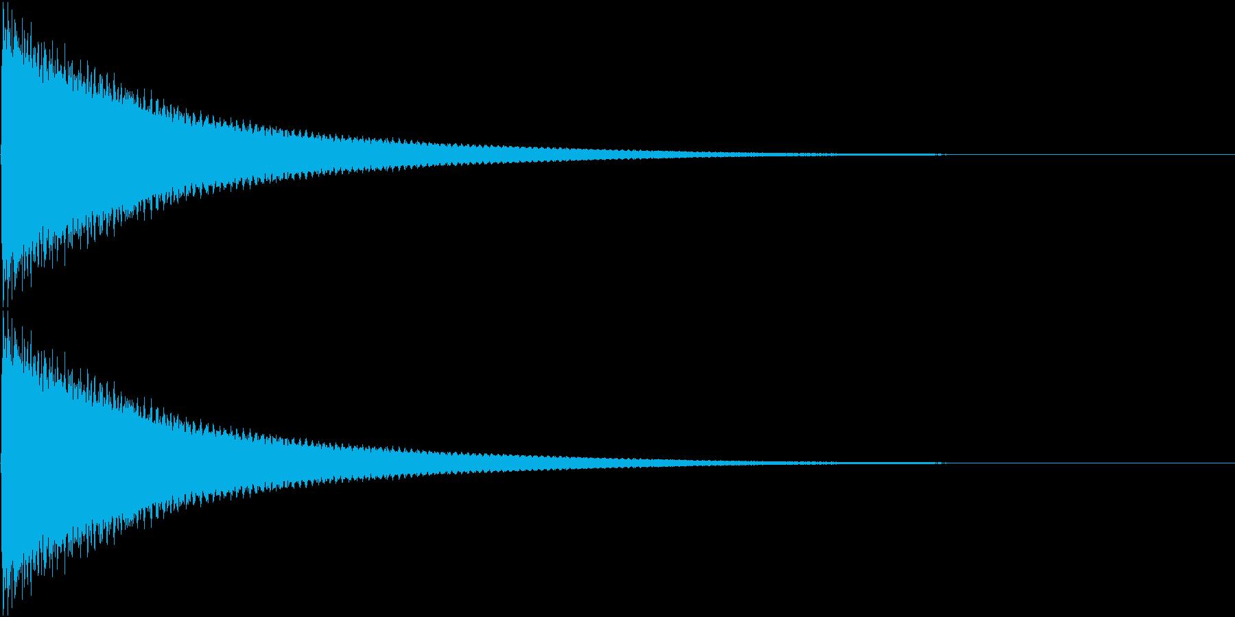 カーン☆のど自慢で不合格の時の音の再生済みの波形