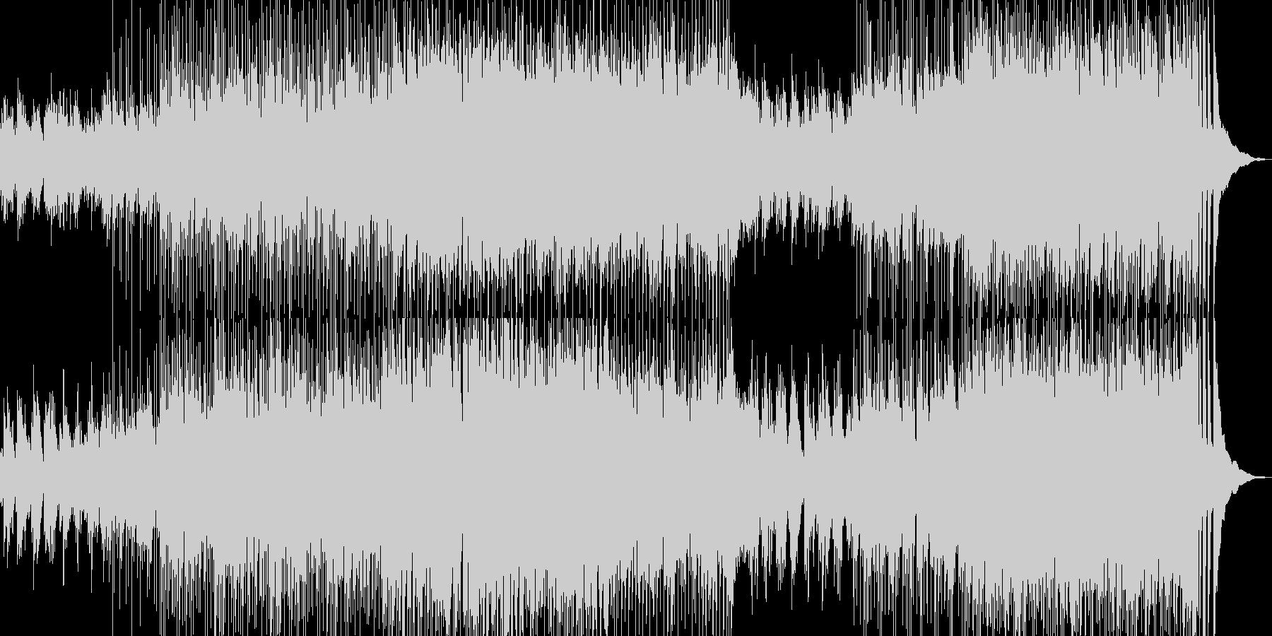 明るく前向きなアコースティックポップの未再生の波形