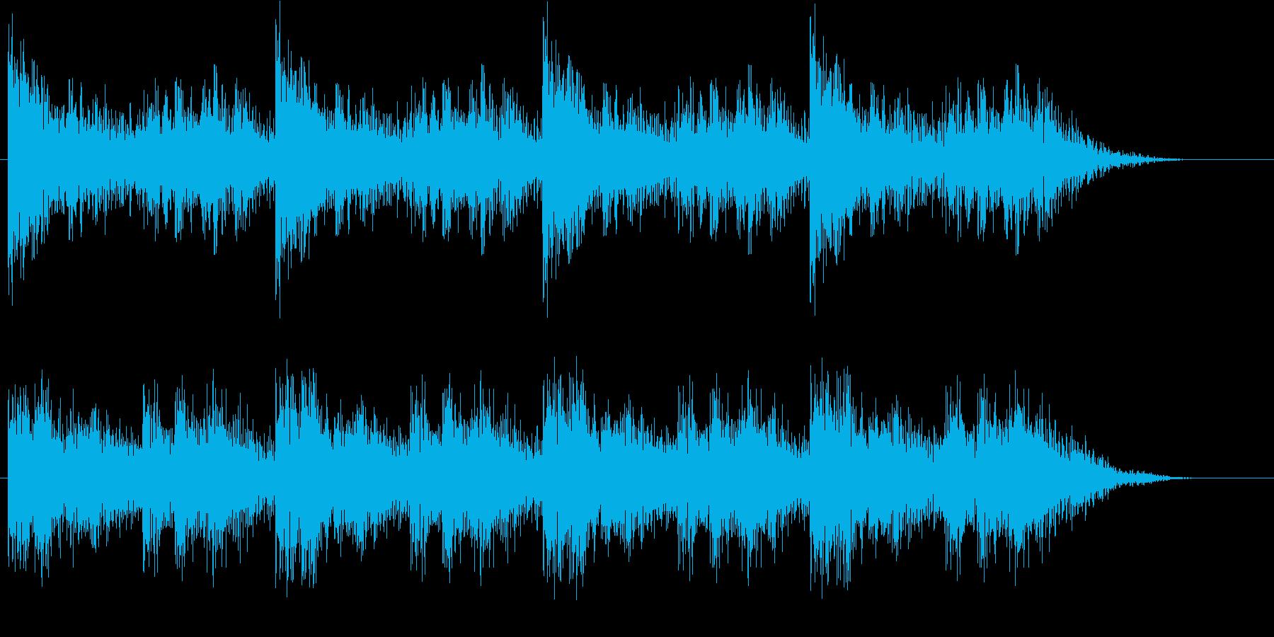 ターミネーター風のリズムの再生済みの波形