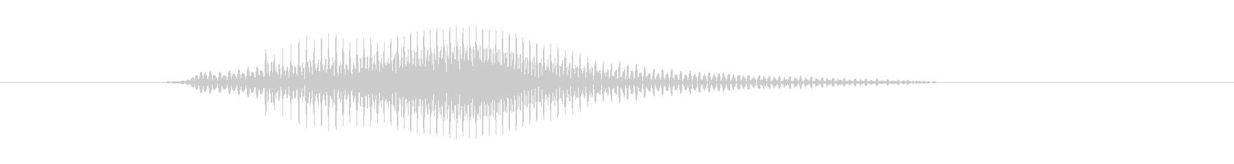 NO(ノー)の未再生の波形