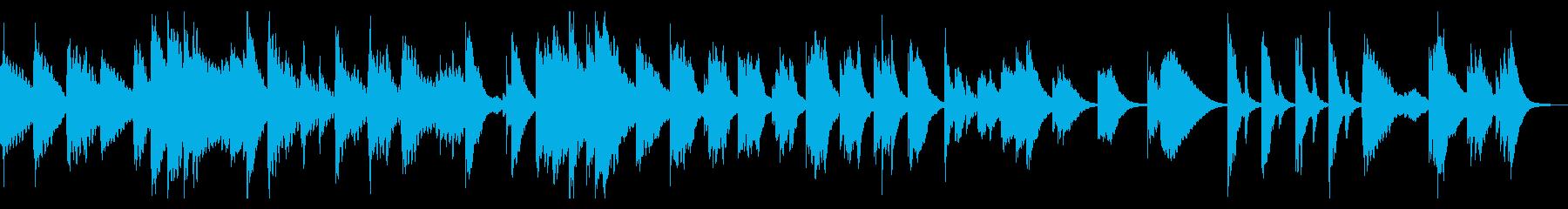 童謡「うさぎ」のゆったりとしたアレンジの再生済みの波形