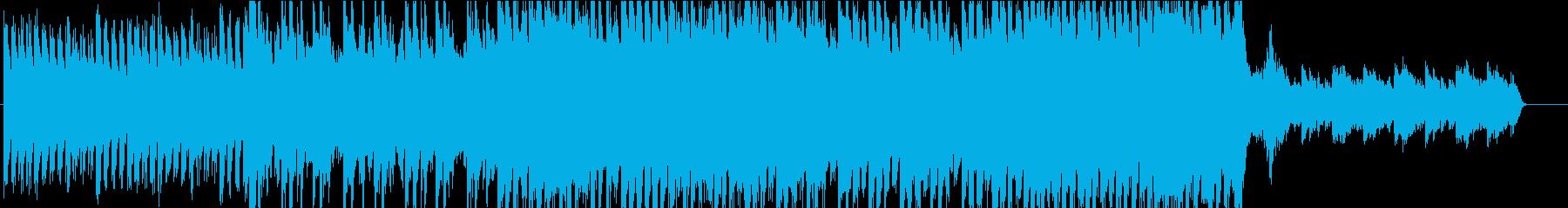 悲しげでビートのあるオーケストラ曲の再生済みの波形