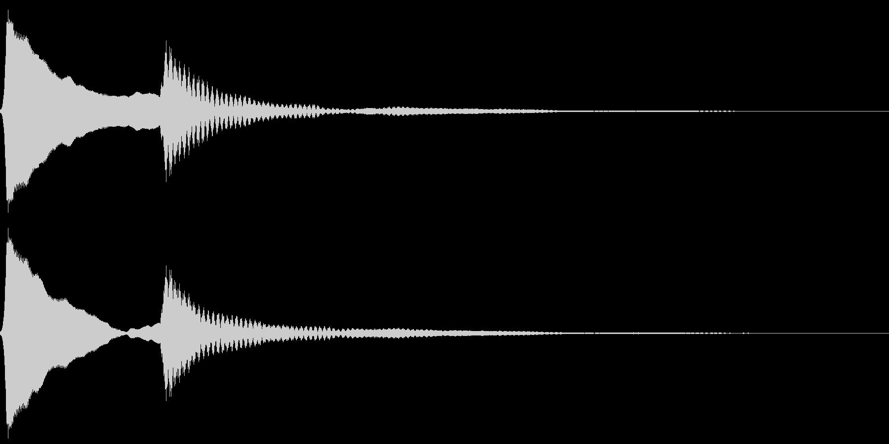 ピンポン。クイズ回答・正解音(高)の未再生の波形