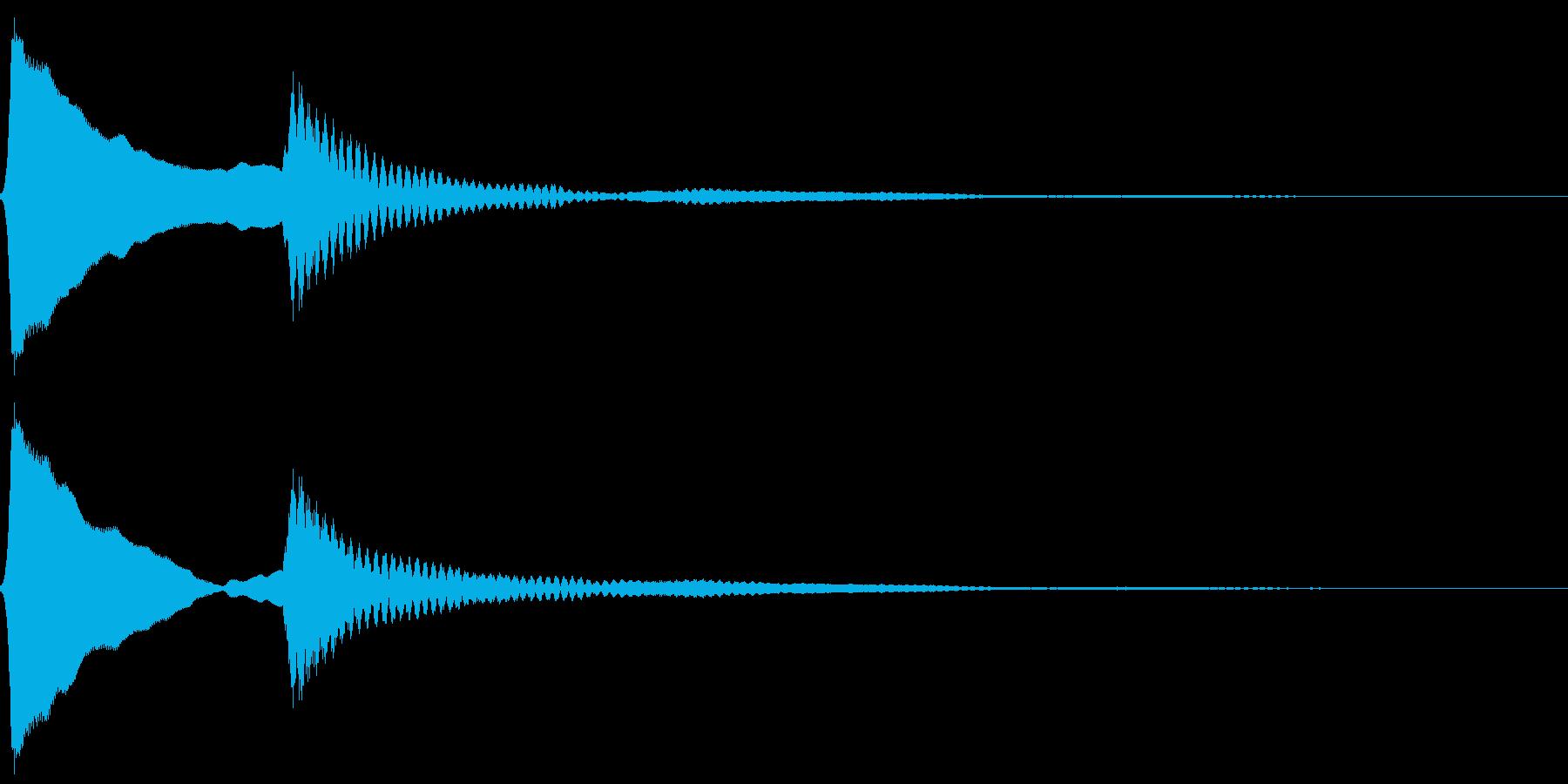 ピンポン。クイズ回答・正解音(高)の再生済みの波形