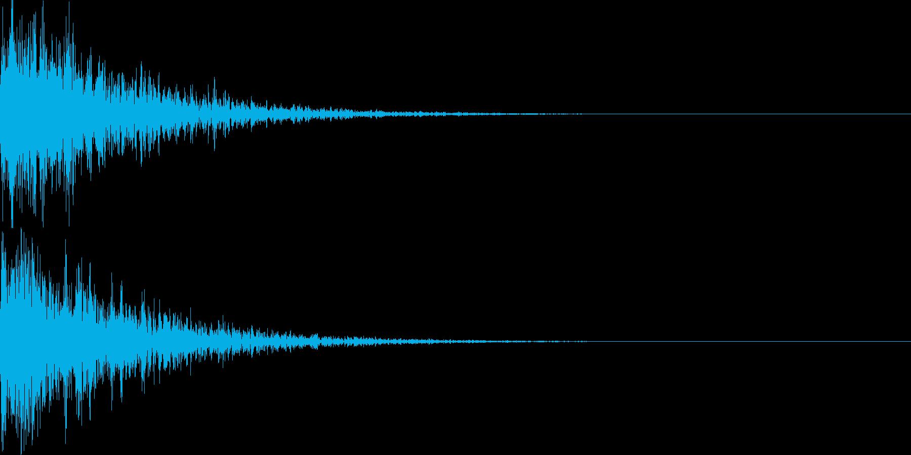 映画向け効果音03ドキッ!の再生済みの波形