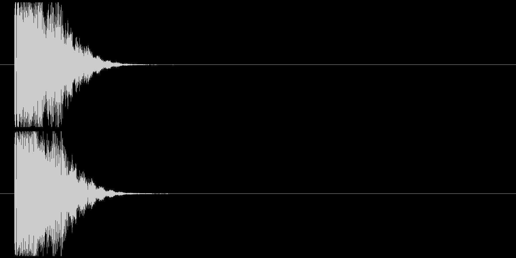 金属インパクト_ゴングの未再生の波形