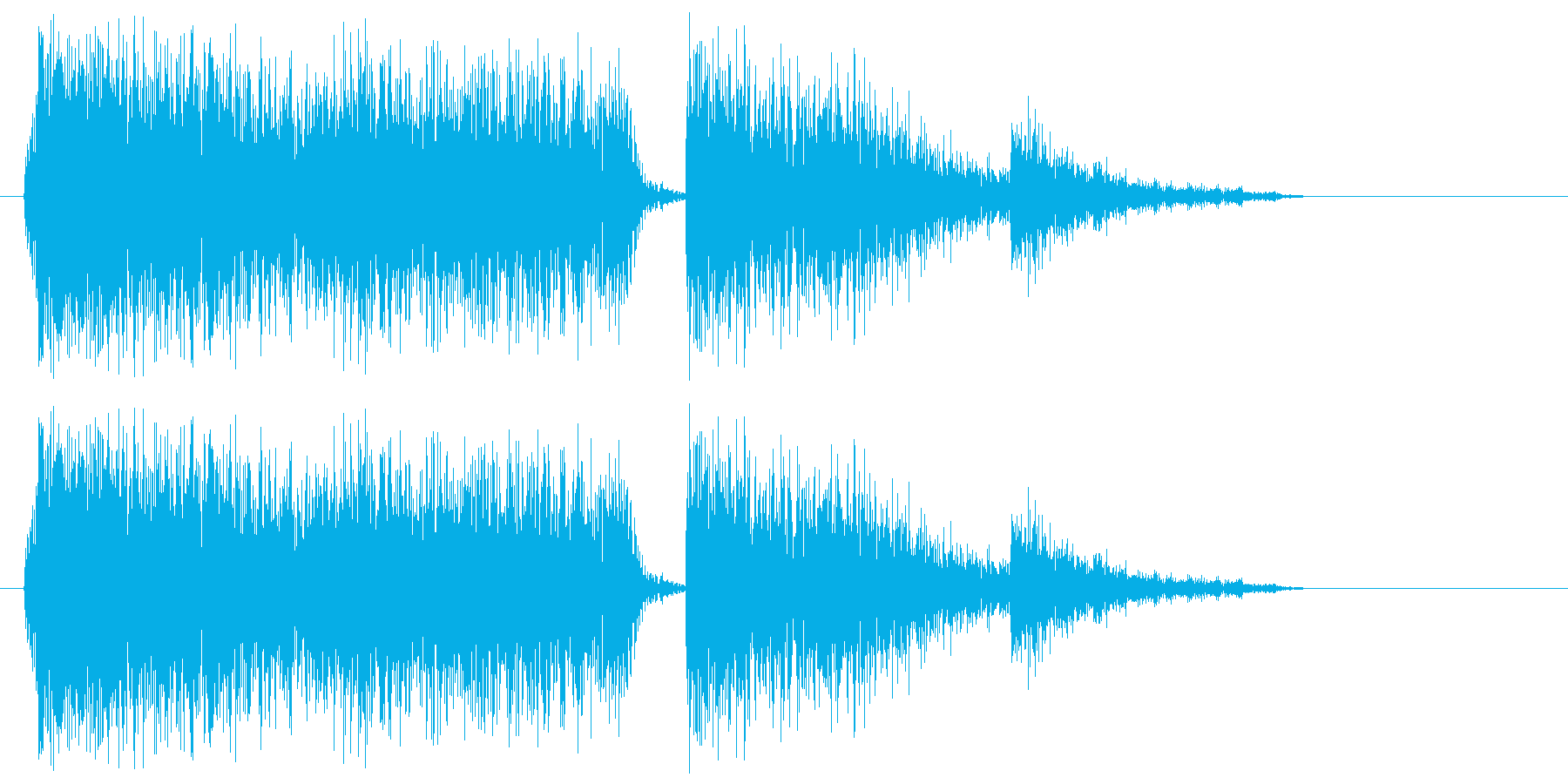 シャーン(高音のハイハット)の再生済みの波形