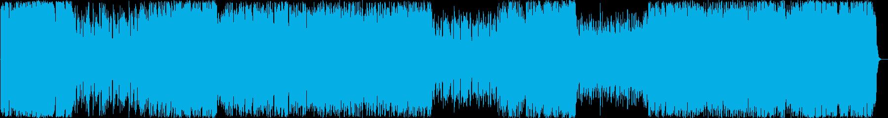 シューティングゲーム風なチップチューンの再生済みの波形