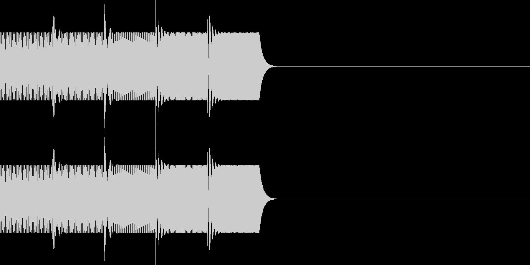 ボタン・操作音(上昇)の未再生の波形