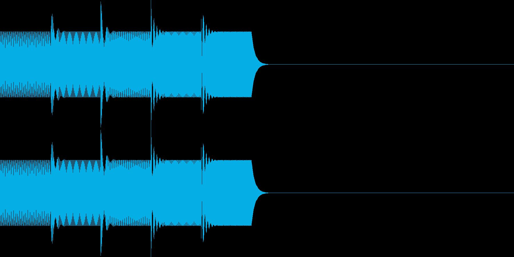 ボタン・操作音(上昇)の再生済みの波形