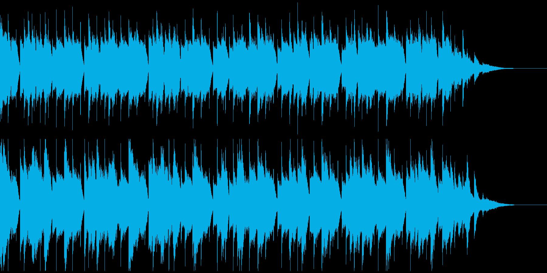 ゆったりとしたピアノポップの再生済みの波形