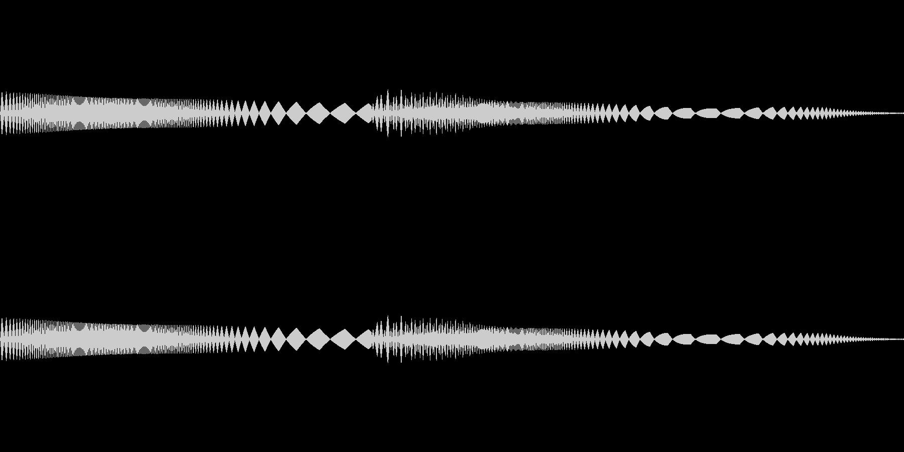ピャピャ(可愛いキャラが登場する時など)の未再生の波形