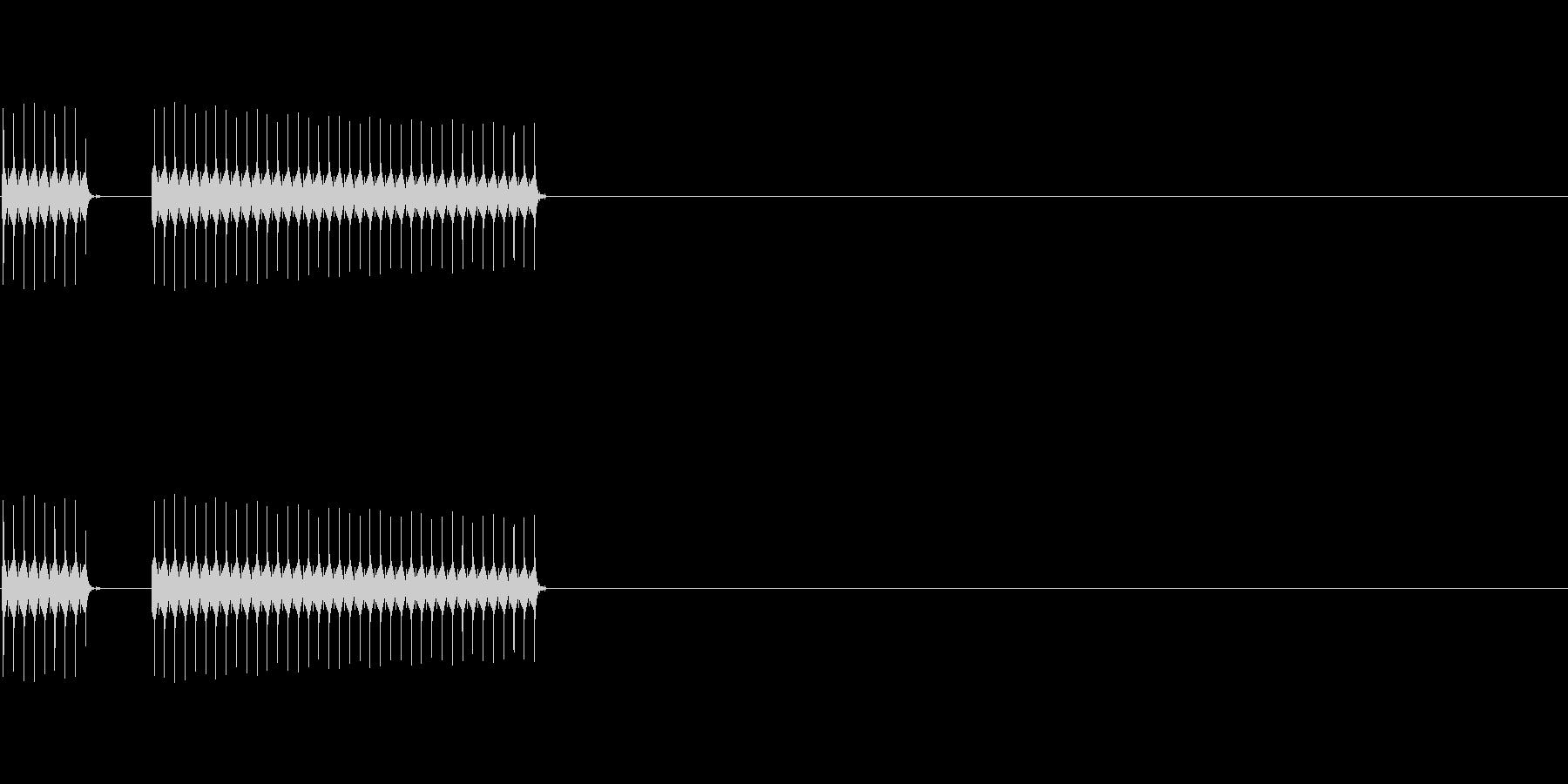 不正解(ブブー)の未再生の波形