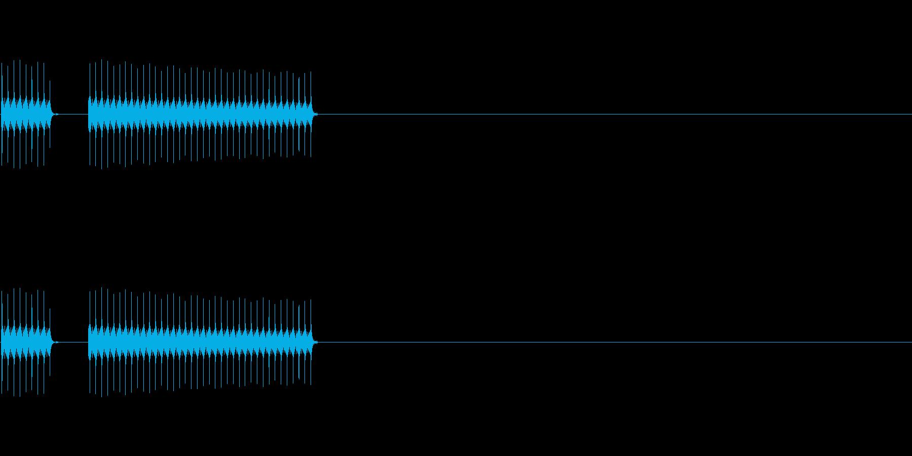 不正解(ブブー)の再生済みの波形