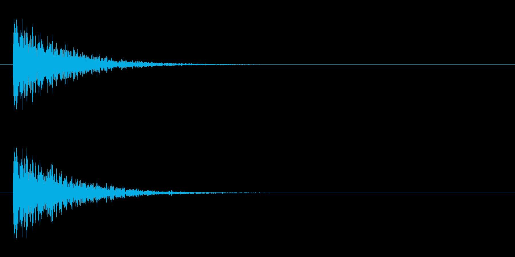 【アクセント10-1】の再生済みの波形