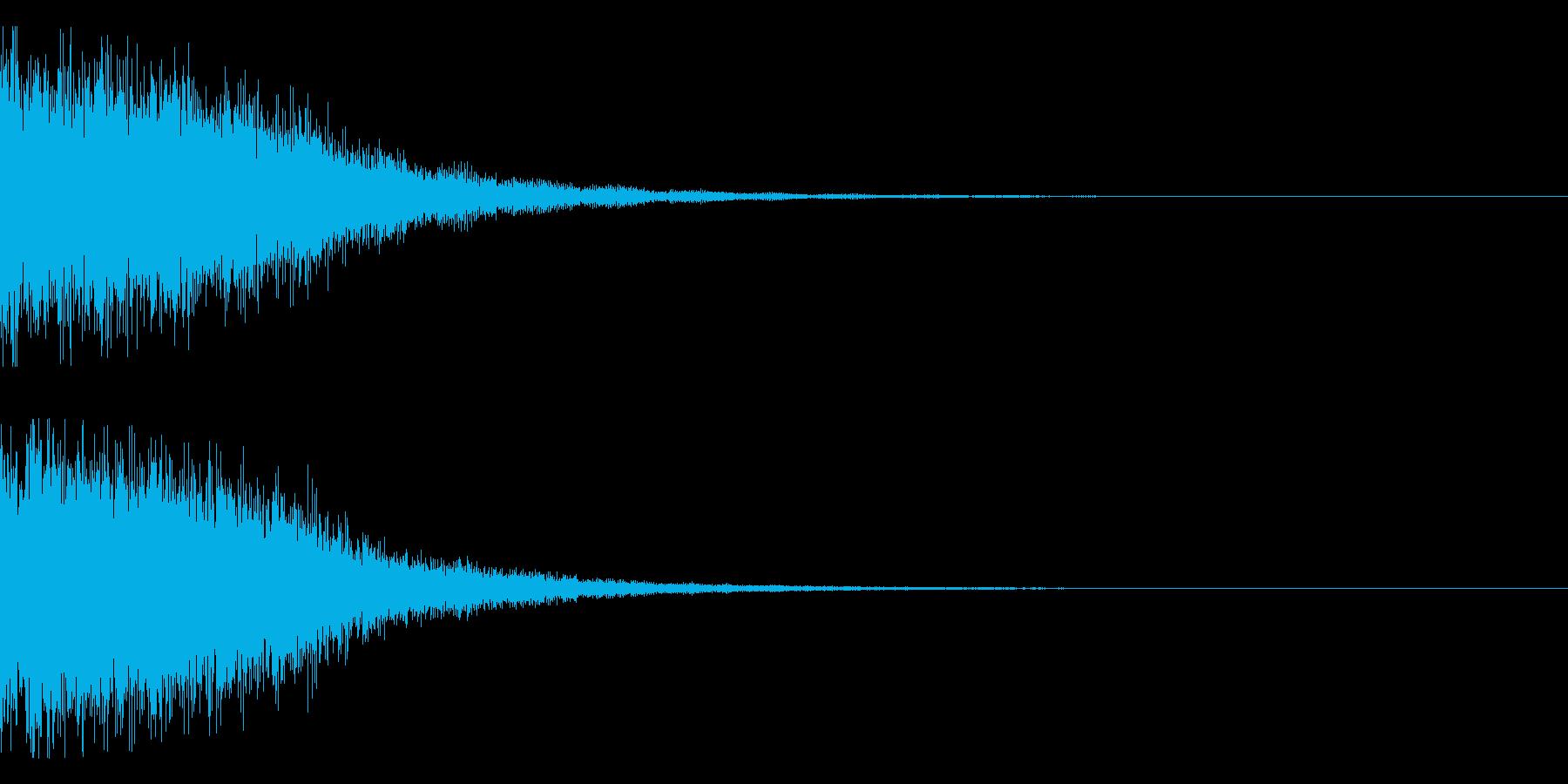 ガーン(電子金属系)の再生済みの波形