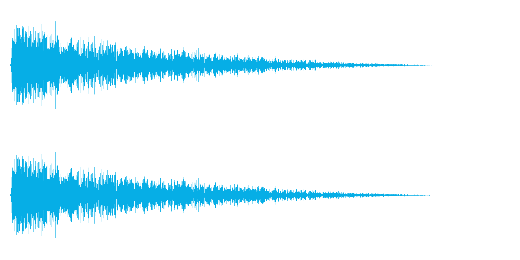 【雷 合成01-1】の再生済みの波形