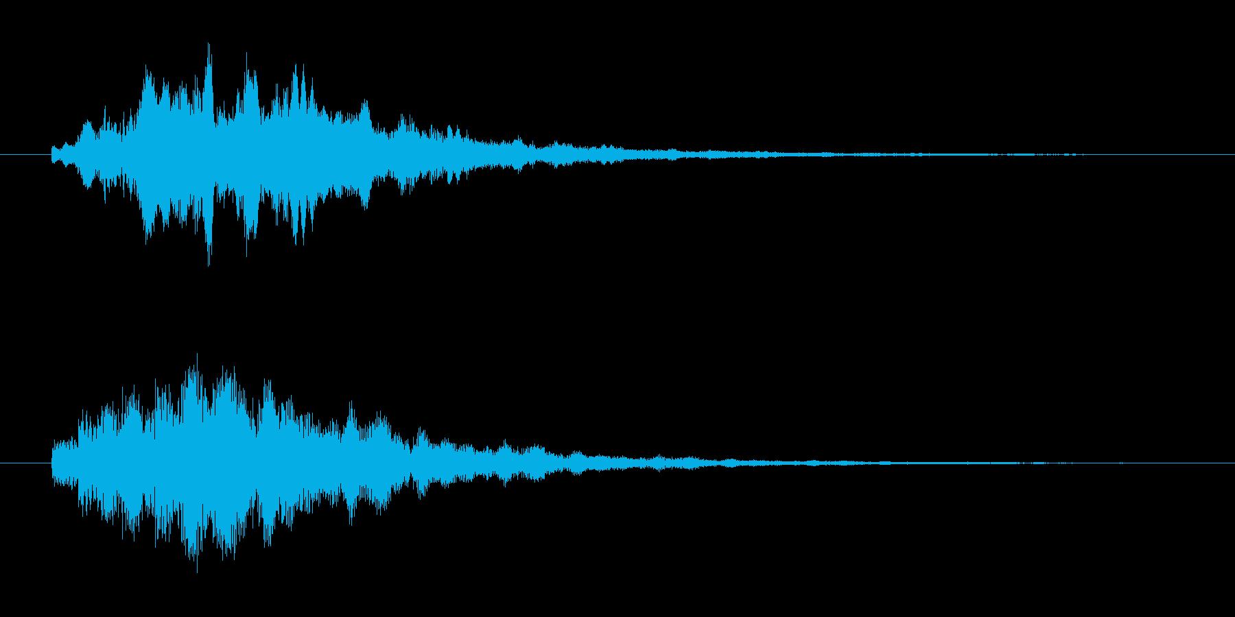 透明感ある、近未来的なアラーム音の再生済みの波形