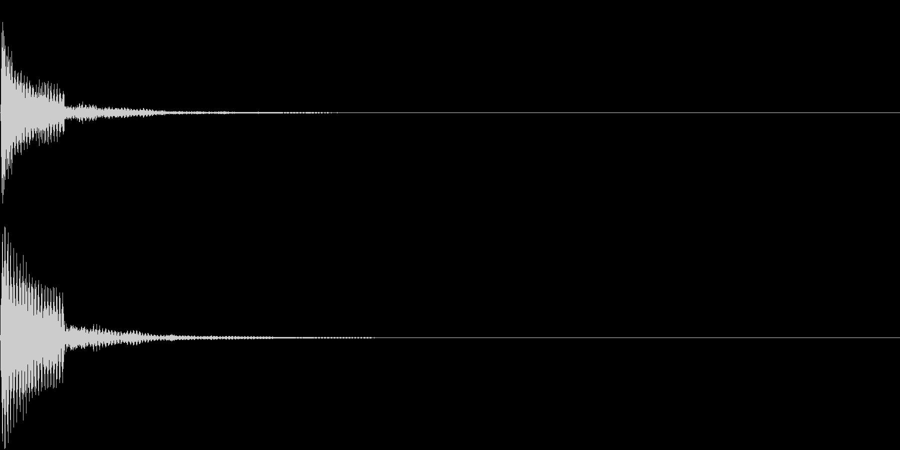 プという電子クリック音の未再生の波形