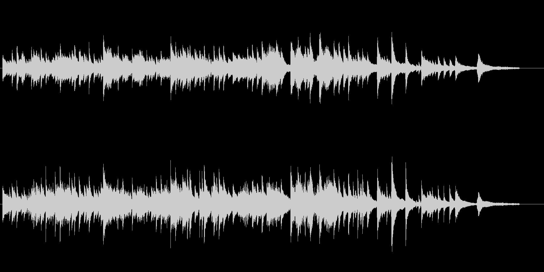 感動的な雰囲気のピアノソロの未再生の波形