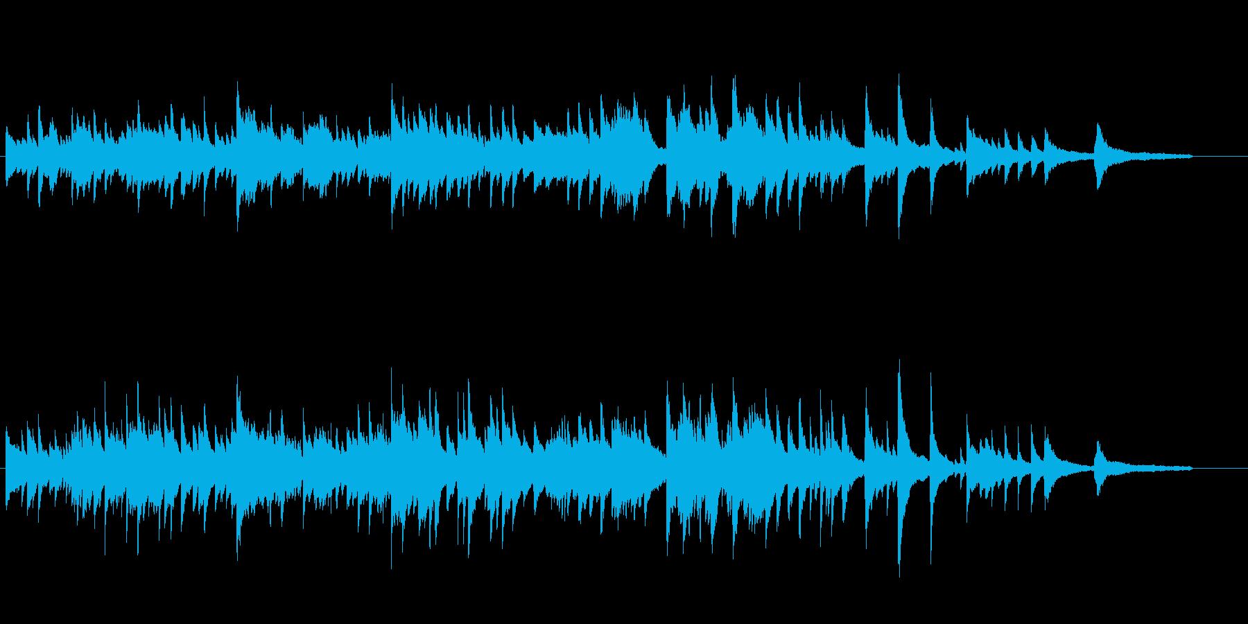 感動的な雰囲気のピアノソロの再生済みの波形