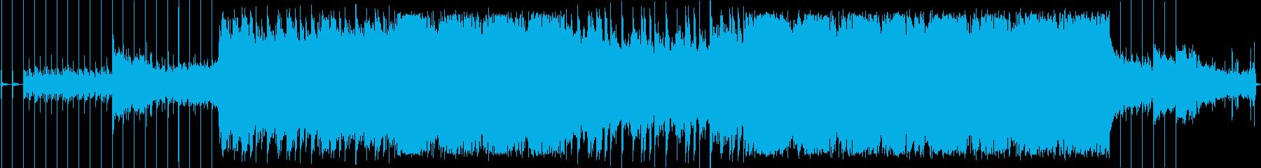 妖しいホラーな雰囲気のエレクトロ楽曲の再生済みの波形