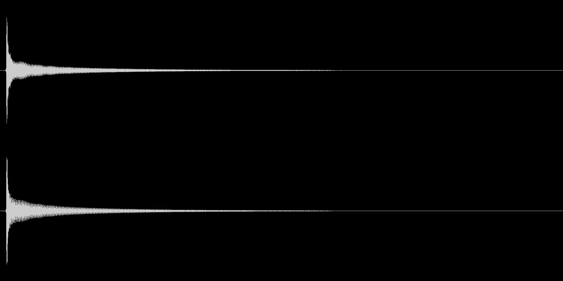 チーン(電子レンジ、出来上がり、料理)の未再生の波形
