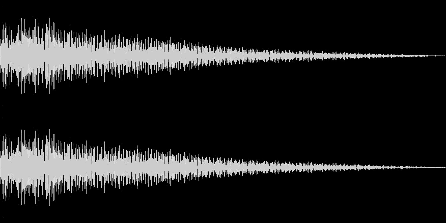 ピュコーン… メールが来た風の効果音の未再生の波形