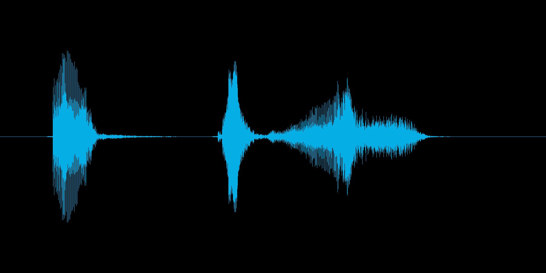 いってぇ〜!の再生済みの波形