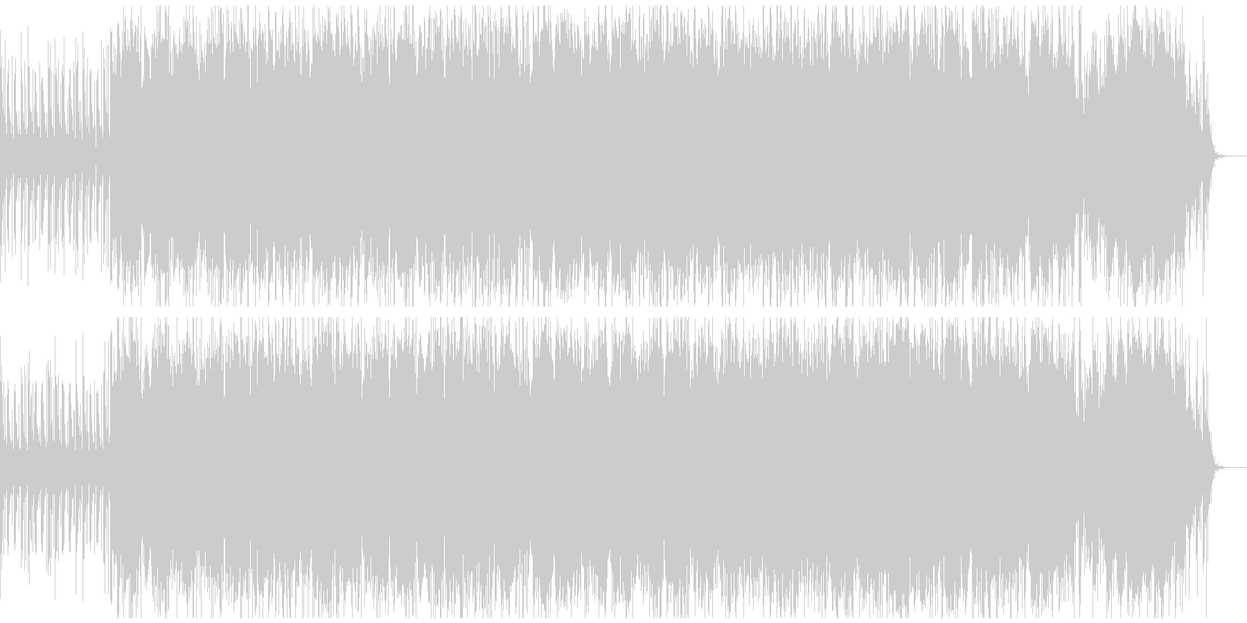 爽やかで、かわいい系のBGMの未再生の波形