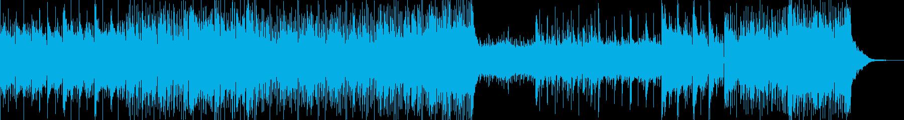 静かでゆらゆらするシンセとピアノの再生済みの波形