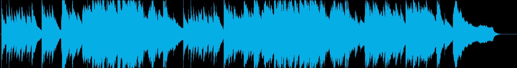 感動的なピアノソロ。回想シーン等の再生済みの波形
