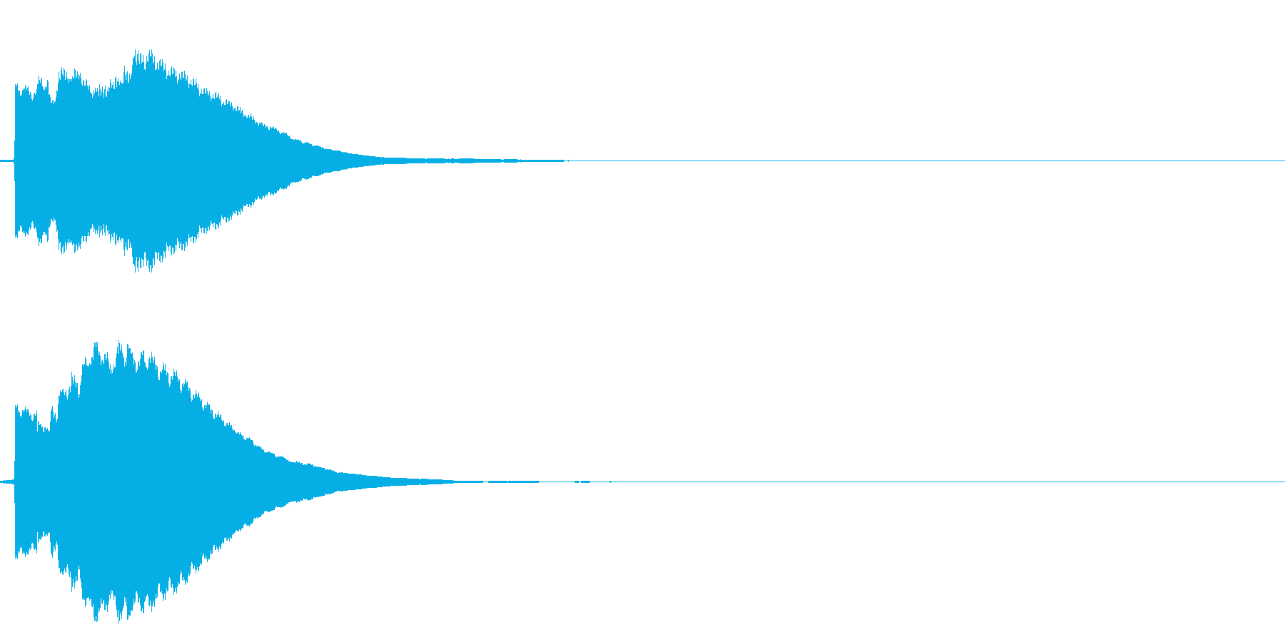 ピ!8bit系の決定/ボタン/クリック5の再生済みの波形