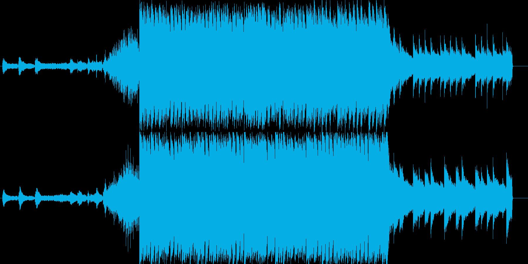 不思議な国に迷い込んだイメージのBGMの再生済みの波形