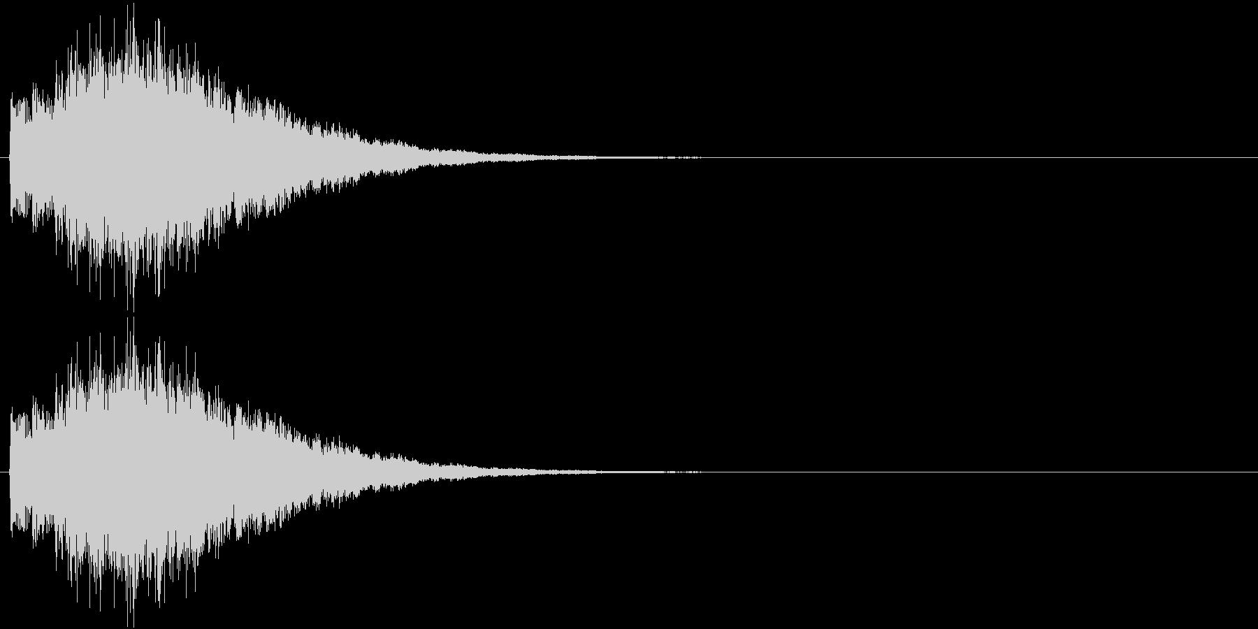 キラキラキラ…(ミステリアス、決定音)の未再生の波形