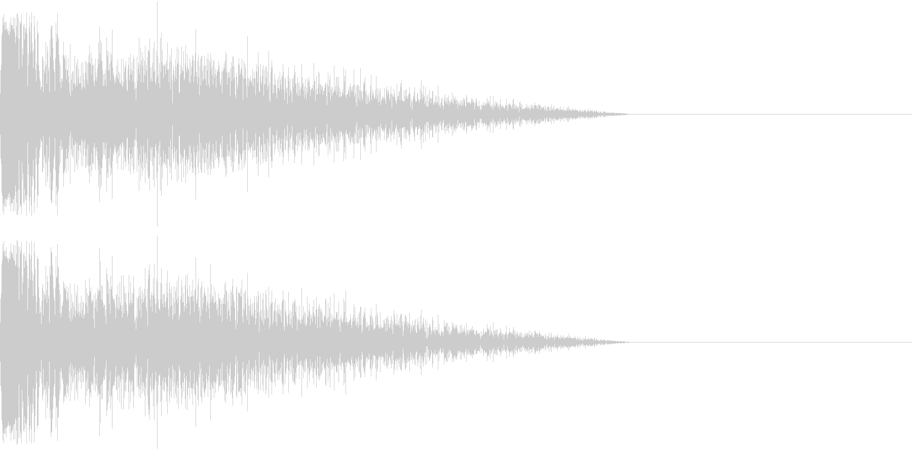 DTM Snare 5 オリジナル音源の未再生の波形