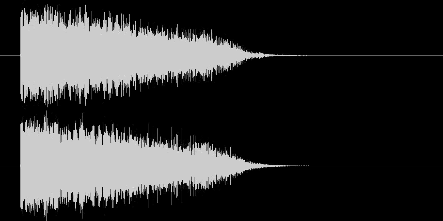 魔法発動な効果音の未再生の波形