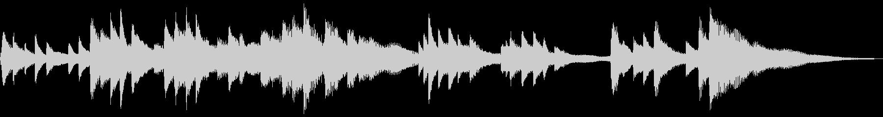 和風のジングル2-ピアノソロの未再生の波形