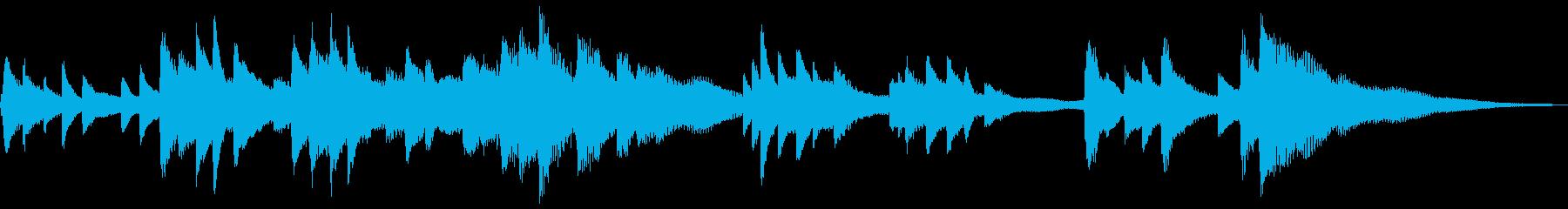 和風のジングル2-ピアノソロの再生済みの波形