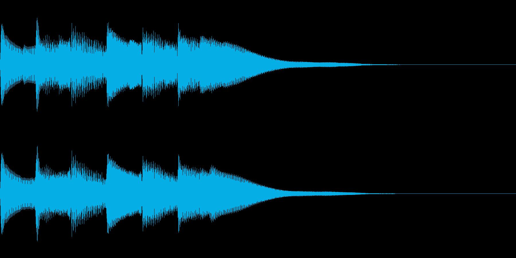 正解 1A 控え目な音 ピポピポピポーンの再生済みの波形