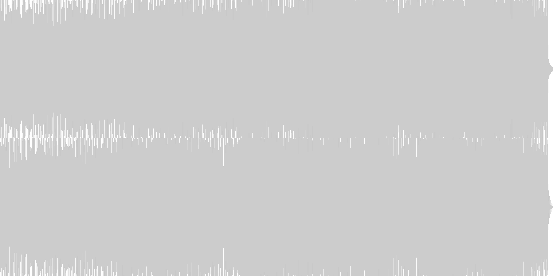 minimal houseの未再生の波形