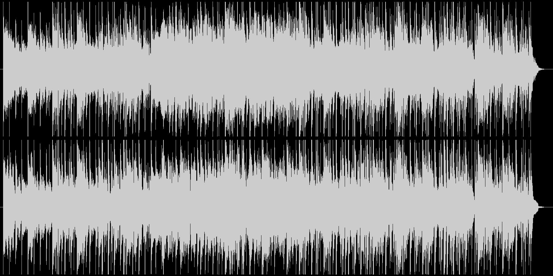 和風・アジアンテイストで穏やかなBGMの未再生の波形